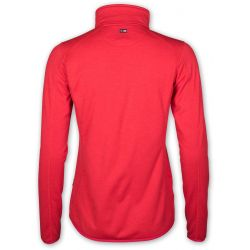 NICCOLE ZIP FLEECE JACKET RED