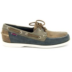 Sebago Spinnaker Brown/Navy/Grey Leather