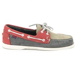 Sebago Docksides Smoke/Grey/Red