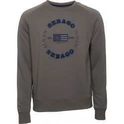 Sebago Logo Crew Neck Mud