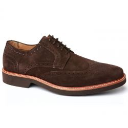 DERBY WILSON SUEDE DARK BROWN
