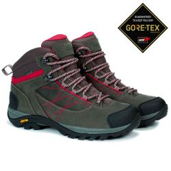 Aigle Mooven Leather W Gore-Tex Dark Grey/Cherry