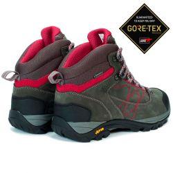Aigle Mooven Leather W Gore-Tex Dark Grey/Cherry