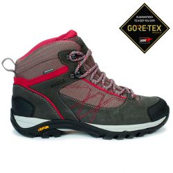 Aigle Mooven Mid W Gore-Tex Dark Grey/Cherry