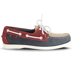 Sebago Docksides Spinnaker Portland Nubuck Light Grey/Smoke/Red