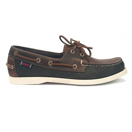 89a876e4f03 Sebago Docksides Portland Spinnaker Waxed Brown/Navy/Grey - Berghen ...