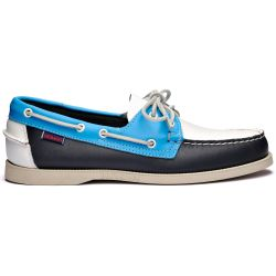 Sebago Docksides Portland Spinnaker Navy/Light Blue/White