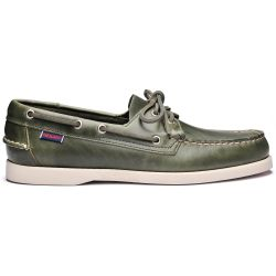 Sebago Docksides Portland Waxed Green Military