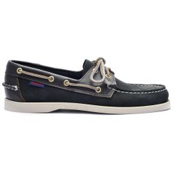 Sebago Docksides Portland Spinnaker Nubuck FGL Black/Dark Brown