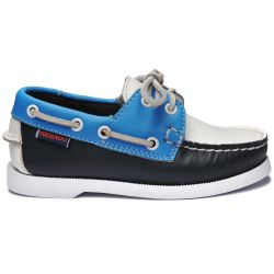 Sebago Docksides Portland Kids Spinnaker Navy/Light Blue/White