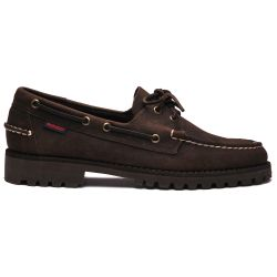 Sebago Portland Lug Total Dark Brown