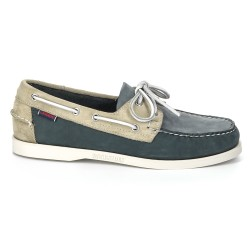 Sebago Docksides Navy/Off White/Lagoon