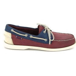 DOCKSIDES Wine/Navy/White Nubuck