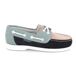 Berghen Portland Nubuck Navy/Light Blue/Pink