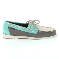DOCKSIDES Grey/Blue/Taupe Nubuck