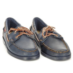 DOCKSIDES Navy/Brown Leather