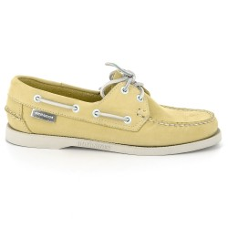 Sebago Docksides Dames Yellow Nubuck
