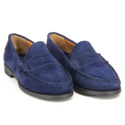 Plaza Navy Suede