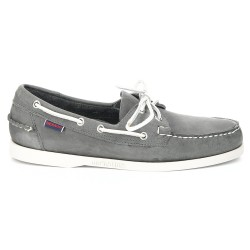 Sebago Docksides Smoke Waxy Leather