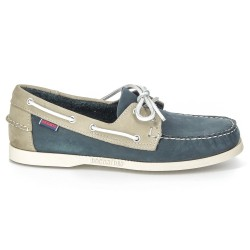 Sebago Docksides Blue/Grey Nubuck