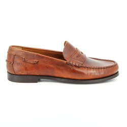 Sebago Plaza Brown Oiled Waxy