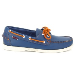Sebago Docksides Blue/Orange Lace Nubuck