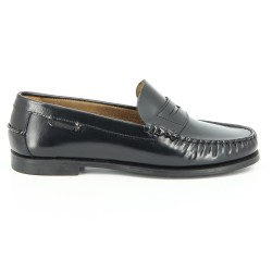 Sebago Plaza Black Leather