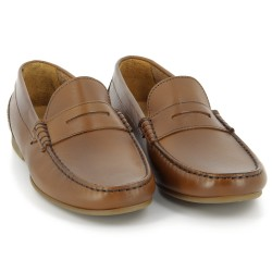 Trenton Penny Tan leather