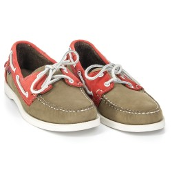 Docksides Beige Suede/Red