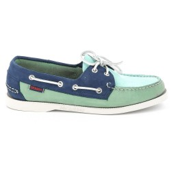 DOCKSIDES Blue/Mint/Navy Nubuck