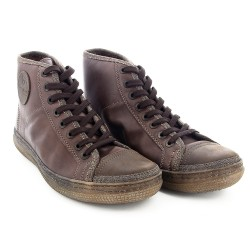 DAKAR HIGH Leather Dark brown