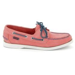 Sebago Docksides Dames Pink/Blue Nubuck