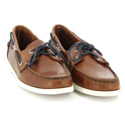 DOCKSIDES Cognac Leather/Navy Nubuck