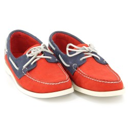 DOCKSIDES Orange/Navy/White Nubuck