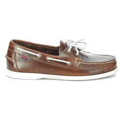 Sebago Docksides Brown Oiled Waxy Leather