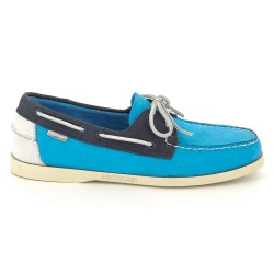 Sebago Docksides Navy/AquaBlue/White Nubuck