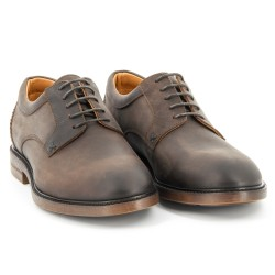 BRYANT LACE UP DARK BROWN OILE
