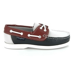 Berghen Portland Leather Navy/Red/White