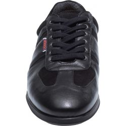 REID LACE UP BLACK LEATHER/SUEDE