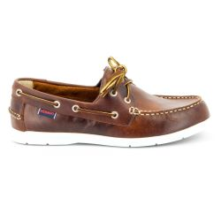 Sebago Litesides Brown Oiled Waxy Leather