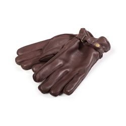 Sebago Deerskin Gloves Brown