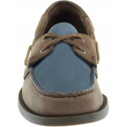 Sebago Docksides Taupe Leather/Brown/Blue