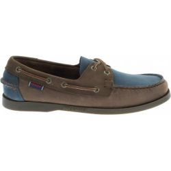 Sebago Docksides Taupe Leather/Brown/Blue
