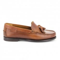 Sebago Plaza Tassel Brown Oil Waxy Leather