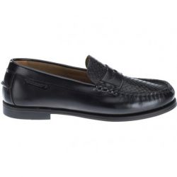 Sebago Plaza Black Leather/Snake