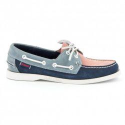 Sebago Docksides Femme Pink/Navy Blue