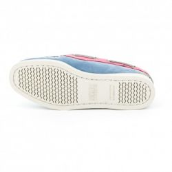 Sebago Docksides Dames Grey/Light Blue/Pink Nubuck