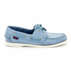 Sebago Docksides Dames Light Blue Nubuck
