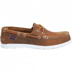 Sebago Litesides Two Eye Med Brown Leather