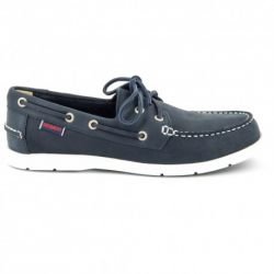 Sebago Litesides Two Eye Navy Leather